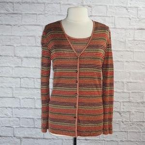 Missoni Striped Cardigan Twin Sweater Set Large